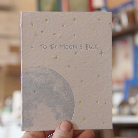 Lovewild Design Plantable Letterpress To The Moon Card