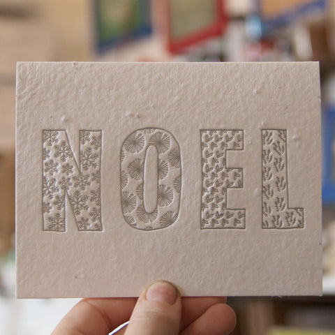 Lovewild Design Plantable Letterpress Noel Card