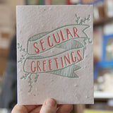 Lovewild Design Plantable Letterpress Secular Greetings Card