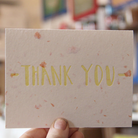 Lovewild Design Plantable Letterpress Thank You Card