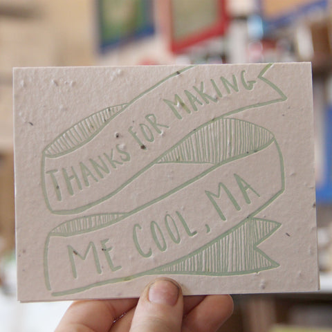 Lovewild Design Plantable Letterpress Thanks Ma Card