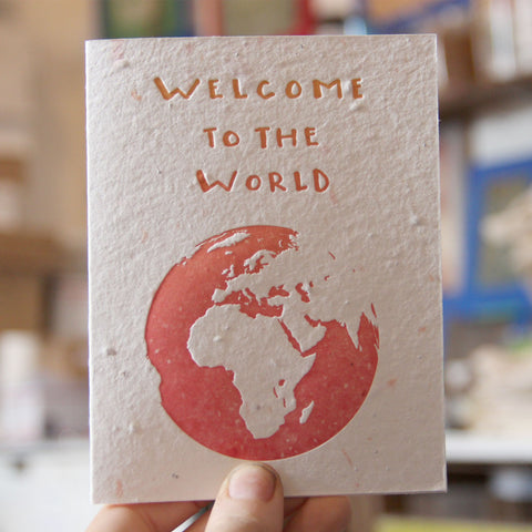 Lovewild Design Plantable Letterpress Welcome Baby Card
