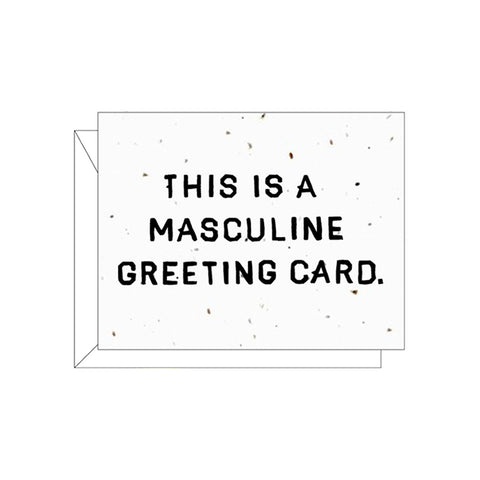 Masculine Greetings