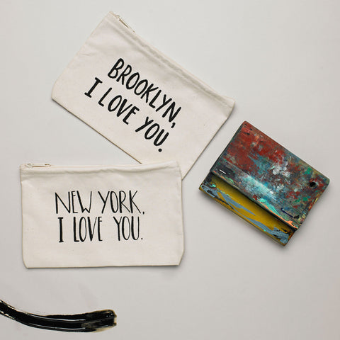 New York Zippered Pouch