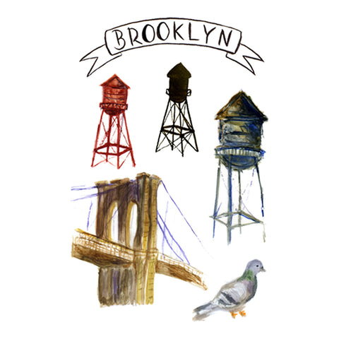 Lovewild Design Watercolor Temporary Tattoo Brooklyn