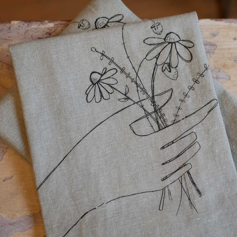 Salvaged Wildflower Bouquet Towel
