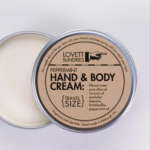 Peppermint Hand and Body Cream