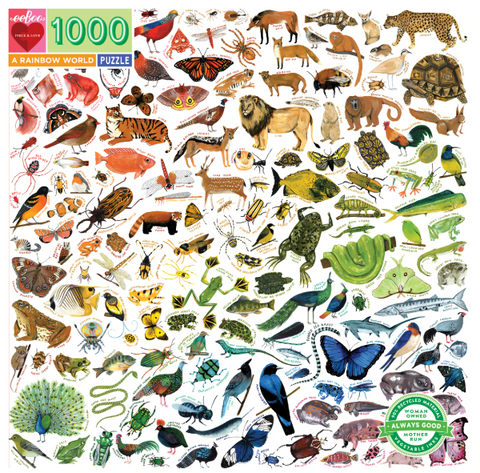 A Rainbow World 1000 Piece Puzzle