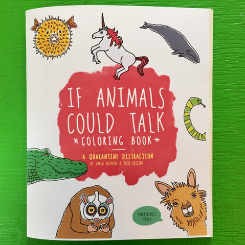 If Animals Could Talk Coloring Book