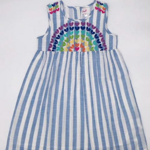 Rainbow Striped Dress 7