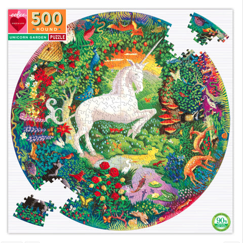 Unicorn Garden 500 Piece Puzzle