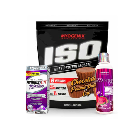 KIT MYOGENIX ISO/HYDROXYCUT/L-CARNITINA