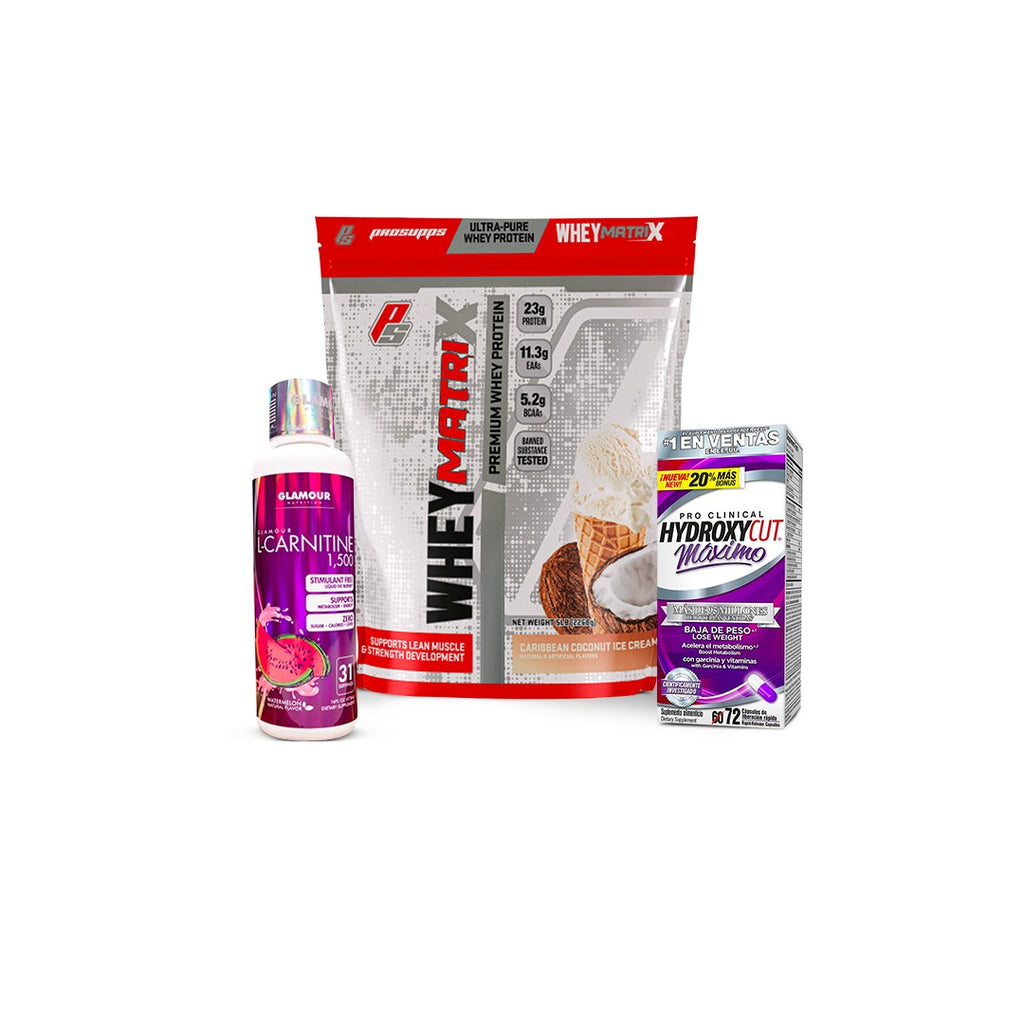 KIT WHEY MATRIX 5 LIBRAS/L-CARNITINA/HYDROXYCUT