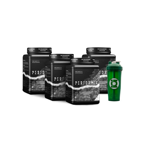 KIT 4 PERFORMIX WHEY 8 LIBRAS TOTAL + SHAKER