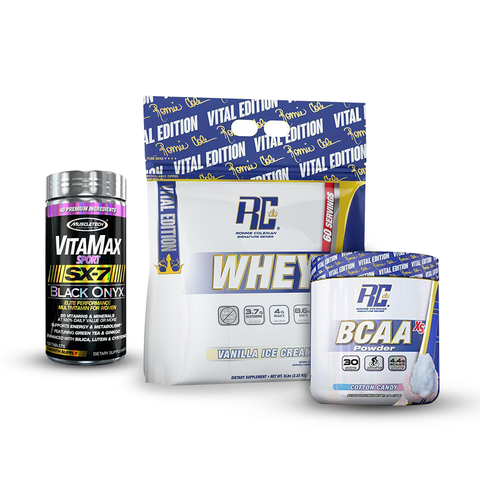 KIT WHEY XS/BCAAS/VITAMAX