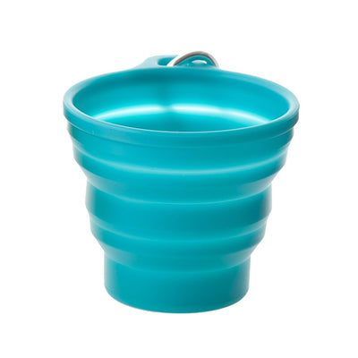 Outdoor Silicone Folding Cup / Collapsible Cup (Sillymann Tools) FDA Certification Blue-Green