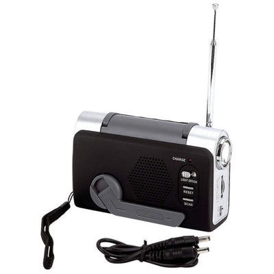 BF Systems ELCRANK3 Wind-Up FM/Weather Radio/LED Flashlight