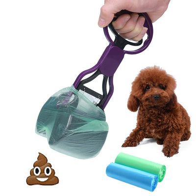 CINOTON Pooper Scooper Pet Waste Shovels Cleaning Tool Handle Grabber Pick up Jaw for Dog and Cats Purple