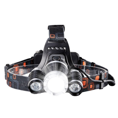 SmallSci 2400Lumen LED Headlamp Brightest Headlight Waterproof Torch Light with 90º Moving Zoomable Light 18650 Rechargable Battery Adjustable Headband for Camping Running Hiking and Christmas Gifts