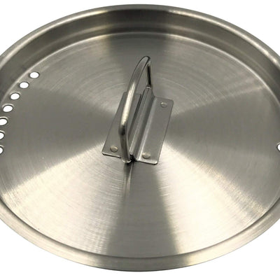 DZO Universal Cup Lid, Stainless Steel - Fits Most Camping, Hiking and Backpacking Cups - Turn Your Cup Into a Cooking Pot