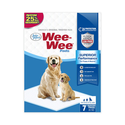 Four Paws Wee-Wee Absorbent Pads for Dogs Regular 7 Ct