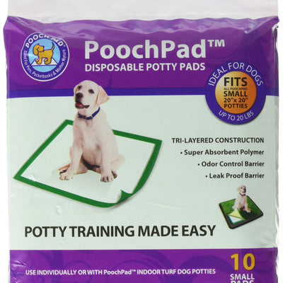 "Pooch Pads Disposable Potty Pad (10 Pack) Small/18"" x 18"""