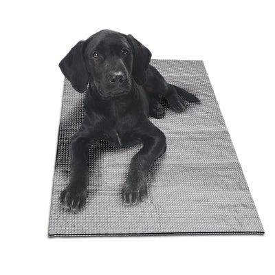 Furhaven Pet Dog Bed Heating Pad | ThermaNAP Self-Warming Insulated Pet Bed Blanket Mat for Dogs & Cats - Available in Multiple Colors & Styles Silver Medium