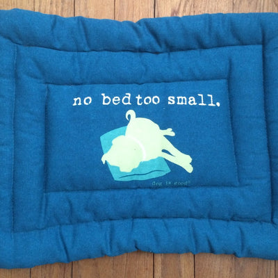 Dog Is Good No Bed to Small Mat, 18-Inch, Blue