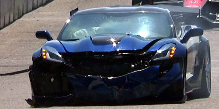 Corvette ZR1 Crash at Detroit IndyCar GP