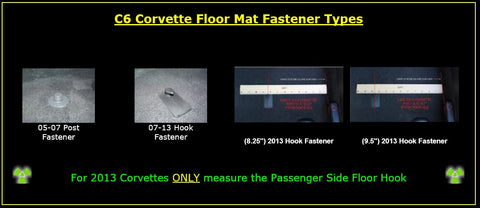 corvette floor posts floor mats