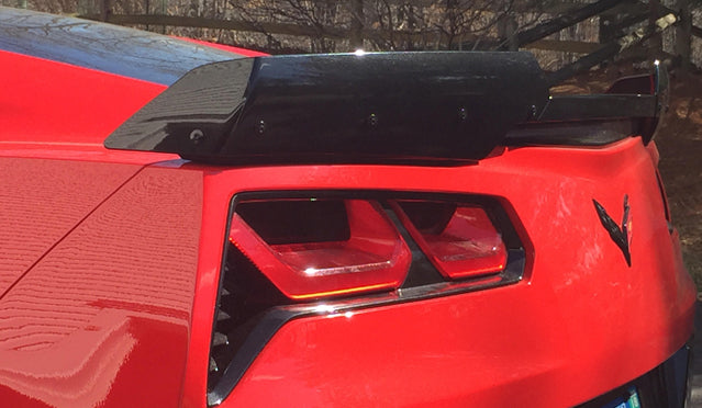 Stage 2 rear spoiler c7 corvette Grand Sport