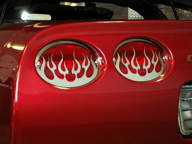 032040 C5 Corvette Flame Tail Light louvers