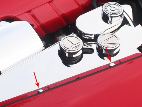 041030 C6 Corvette Chrome Button Kit engine compartment
