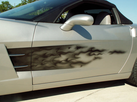 C6 Corvette American Car Craft Side Fade Graphics - Flame
