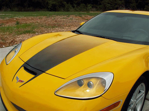 042031 Hood Fade Stripe Graphic for the C6 Corvette