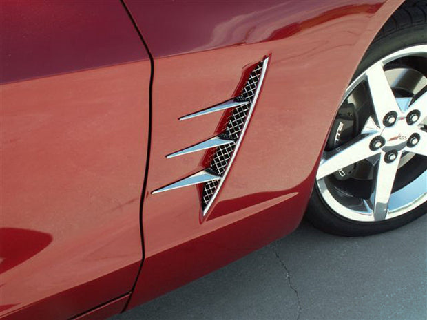 042050 C6 Corvette Vent spears with laser mesh