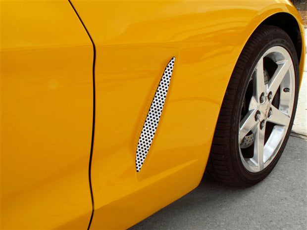 042052 C6 Corvette Perforated Side Vent Grille