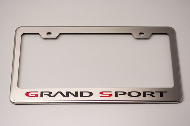 042132 C6 Corvette Grand Sport License Plate Frame