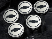 043096 C6 Corvette Engine Caps Bowtie Logo