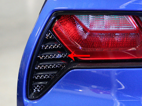 C7 Corvette American Car Craft Taillight Grille - Laser Mesh