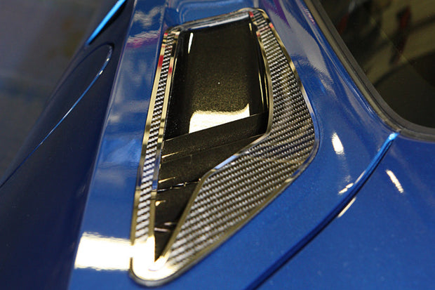 052064 carbon fiber rear vent grilles for the C7 Corvette