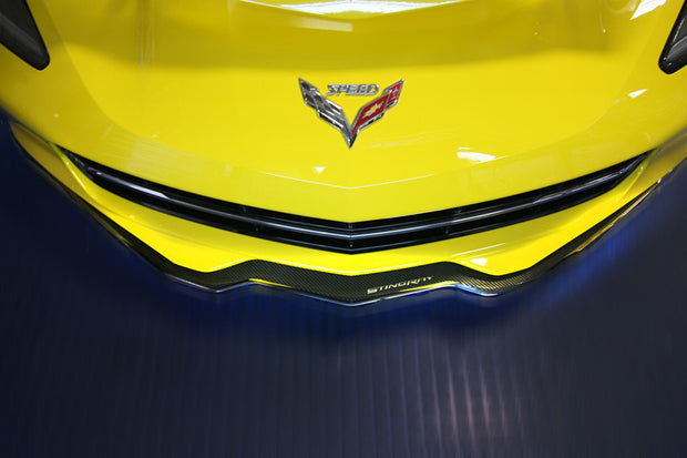 052070 stingray carbon fiber front spoiler