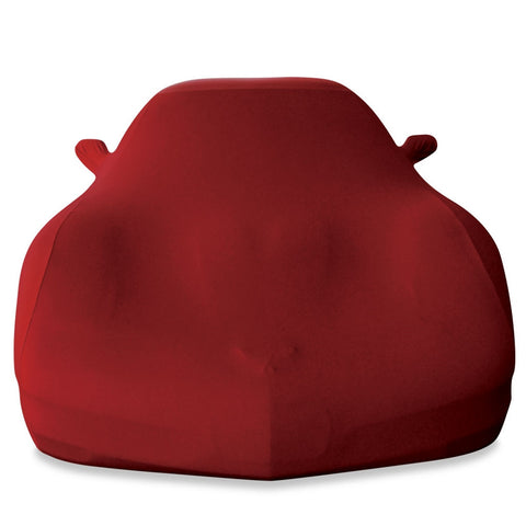 17176404 Dark red stretch satin car cover c5 corvette