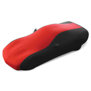 17176420 C5 Corvette Stretch Satin 2 tone Car Cover Black and Red