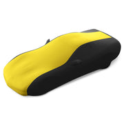 17176422 c5 corvette yellow and black stretch satin car cover