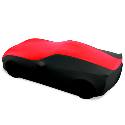 27176420 C7 Corvette Stretch Satin Car Cover Black and Red