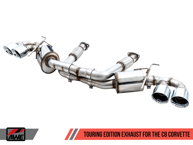 3015-42151 awe touring exhaust for the c8 corvette stingray chrome tips