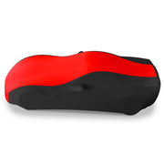 37176420 C6 Corvette Stretch Satin Car Cover Black and Red