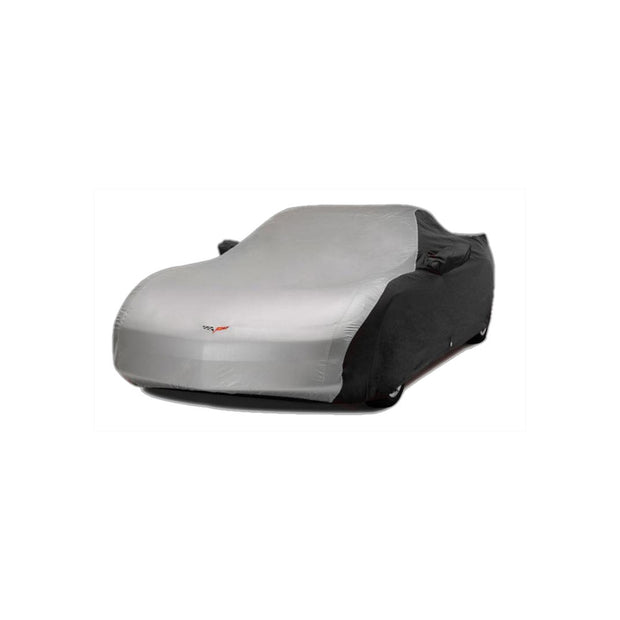 37177712 C6 Corvette 2 Tone Car Cover Silver and Black