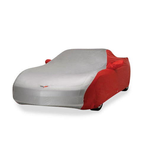 37177713 C6 Corvette 2 Tone Car Cover Red and Silver